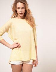 VEROMODA ソフトネオンイエローオーバーサイズTシャツ S新品