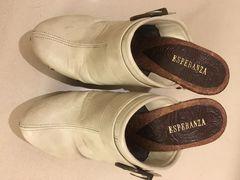 大人気★サボサンダル靴★白