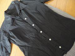 【S】 7分丈 ブラックシャツ 【USED】