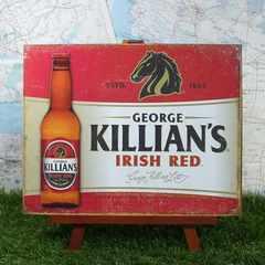 ★新品★【ブリキ看板】George Killian's/ジョージ・キリアン