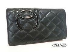 ◆シャネル CHANEL 長財布 カンボンライン 黒 e462