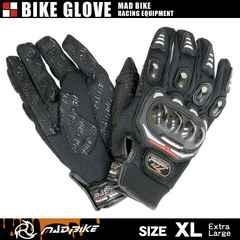 ★硬質プロテクターモデル バイクグローブ 手袋 黒 XLサイズ