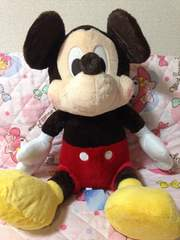 ミッキーマウス*ギガジャンボ 赤いほっぺ ぬいぐるみ*