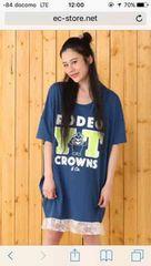 阿倍野やすともコラボ限定Tシャツワンピ新品未開封ブルー