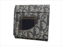◆Christian Dior◆ディオール◆トロッター柄◆三つ折財布◆