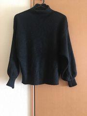 新品★ブラック★バルーン袖★ニット★セーター
