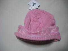 wb607 ROXY ロキシー つば付き ニット帽 ピンク