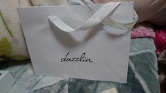dazzlinダズリンショ袋バックホワイト白ロゴ
