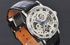 ソウキ/アナログ・/メンズ機械式/手巻き腕時計/スケルトン/47
