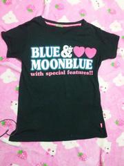 Blue Moon Blueボアハート付きTシャツ