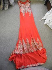 裾刺繍のロングドレス 送料500円