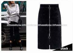 5L大きいサイズ/ZIPタイトスカート5