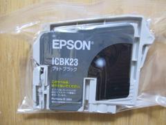 インケジェクトプリンターインク EPSON ICBK23(フォトブラック) 新品!�A