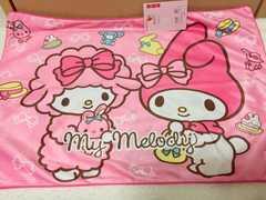 新品*マイメロ両面プリント枕カバー*ピンク姫系リボン柄