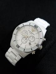 エンポリオ・アルマーニ 腕時計 セラミカ AR1424 ホワイト 新品!