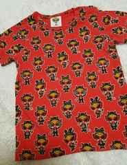 美品☆ヒスミニ、Tシャツ、赤、90cm