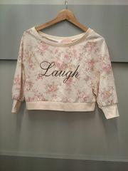 LIZ LISA☆花柄ショート丈七分袖トレーナー