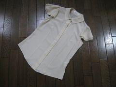 ○Mプルミエ○m's select袖ティアードシャツ 36 ベージュ