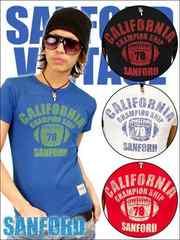 SANFORD(サンフォード)フットボールTシャツ/青S アメカジ系