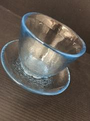 4050 未使用 手づくりグラス ブルー
