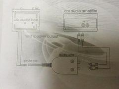 送料無料!スピーカー出力→RCA変換!2chハイローコンバーター
