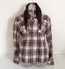 チェック☆シャツ L