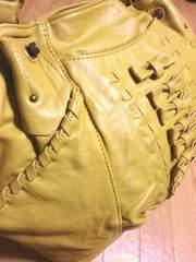 ギャラリービスコンティ/GALLER革製リボンステッチトートバッグ