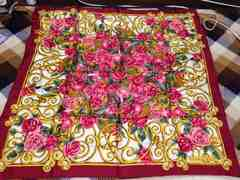 美品Diorクリスチャンディオール花柄スカーフ大判