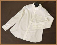 【即決】コットンやわらかシャツ991☆オフホワイト/L