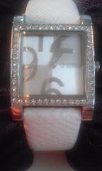 MORGANモルガンラインストーン スクエア 腕時計