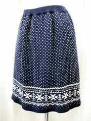 【earthmusic&ecology】紺/白のスカートです