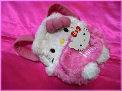 ☆新品☆カワイイ♪ハローキティ*ふわふわお子様用ぬいぐるみリュック/ピンク
