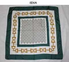 イエナ*IENAイタリア製シルクビットスカーフ新品グリーン