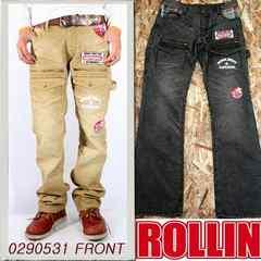 Rollin(ローリン)コーデュロイブッシュパンツ/ベージュL