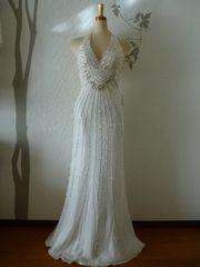 S ロングドレス EauSovage ホワイト マーメイド 新品 J16147