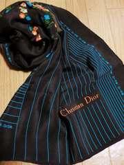 クリスチャンディオール/Dior レトロ花柄大判スカーフ