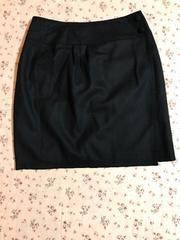 美品 大きなサイズ ペイトンプレイス ウールラップスカート 15号
