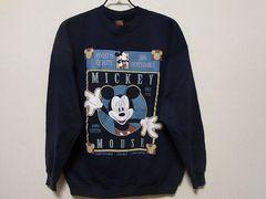 即決USA古着●ミッキーデザインスウェット紺!ディズニー・ヴィンテージ