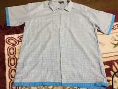 新品 ブルーチェックの半袖シャツ