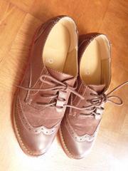 ヌォーボNUOVOハーキンスHawkins紐付き/Mサイズ23~23.5㎝中古カジュアルシューズ靴