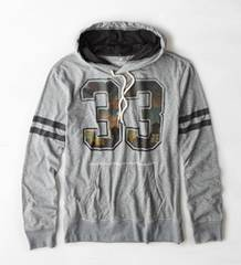 【American Eagle】Vintage AEOフォトリアル33フーディーTシャツ S/Grey