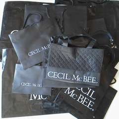 CECIL McBEEセシルマクビー 紙袋14枚&シール&ビニール袋ショップ袋