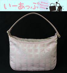 美品シャネル ハンドバッグ ニュートラベルライン ピンク w415