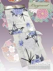 【和の志】ブランド浴衣◇Luxjewel◇白系・薔薇・麻の葉◇10