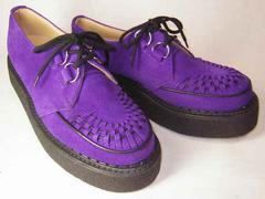 ジョージコックスGeorgeCox新品3588パープル スエード靴uk5