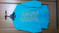 訳あり激安85%オフミッシェルクラン、MK、7分丈、Tシャツ(美品、水色、メンズM)