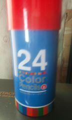 鉛筆削り付き24色ペンシル