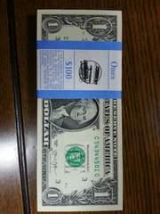 アメリカ現行USドル$紙幣連番帯付き送料込み
