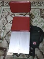 ミニヘラ台と背もたれイス セット (新品未使用)
