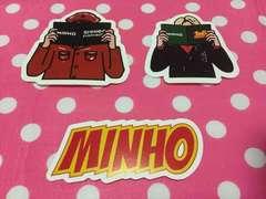 SHINee★COEX SUM 公式★Fan Book ステッカー★ミノ ミンホ 3枚